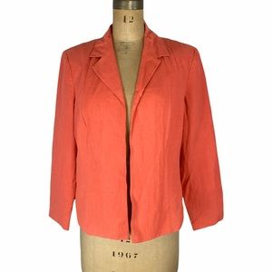 Coldwater Creek Open Front Easy Jacket Size LP